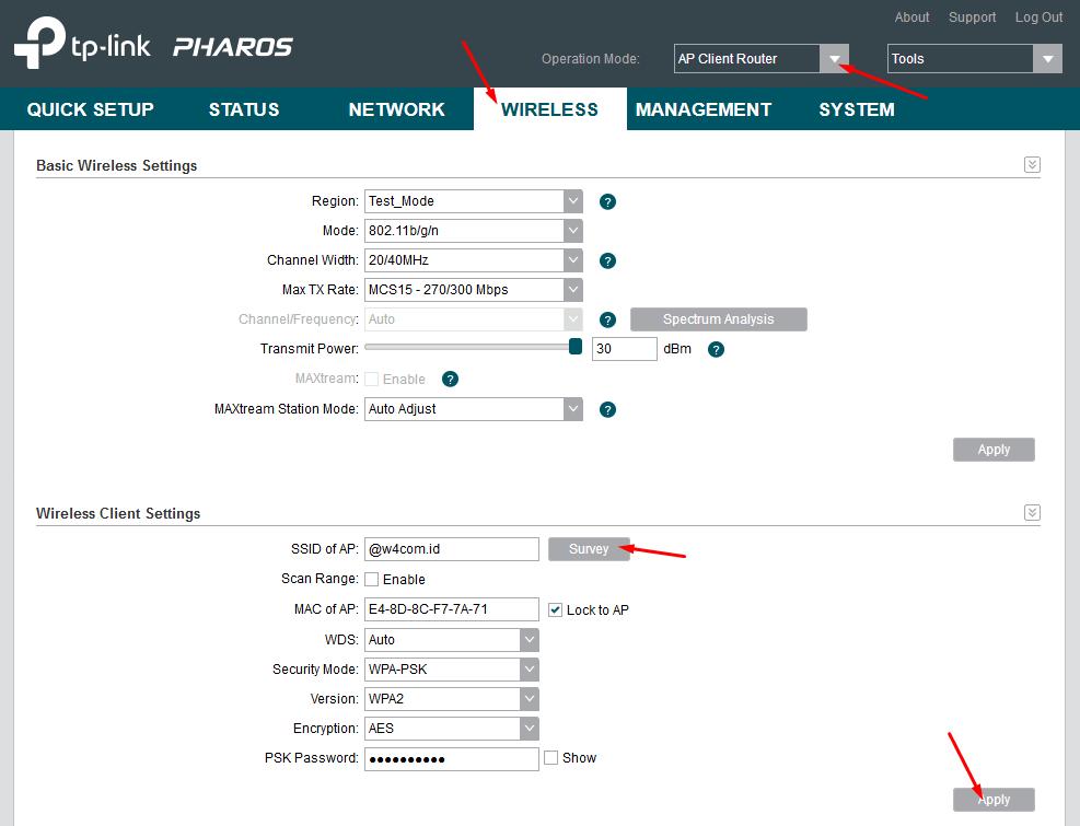 Cara Setting TPLINK CPE220 Sebagai AP Client Router