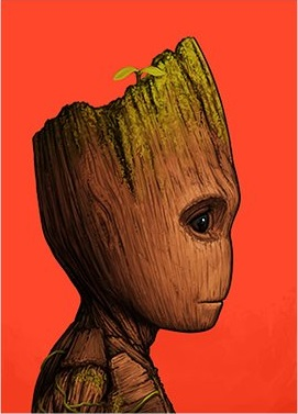 Guardians of the Galaxy Baby GrootMarvel Portrait Print by Mike Mitchell x Mondo
