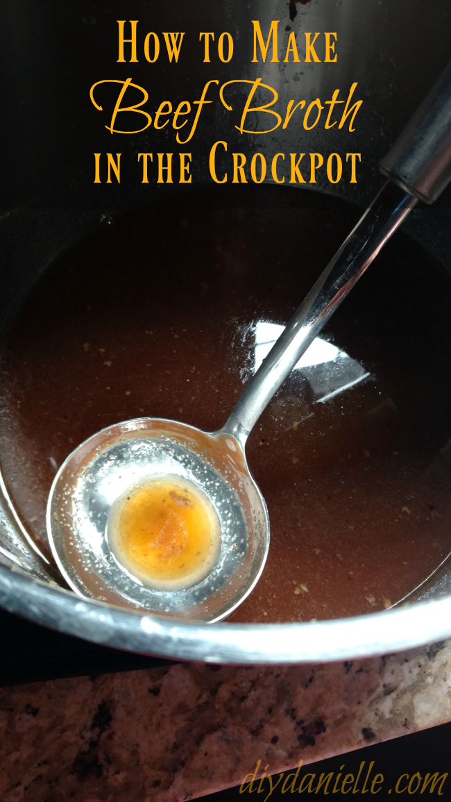 An excellent, easy crockpot beef broth recipe.