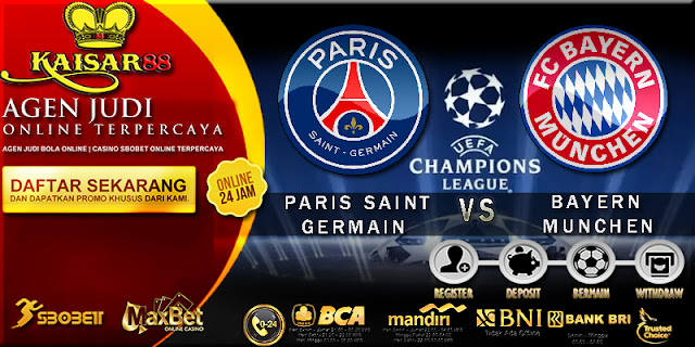PREDIKSI BOLA TEBAK SKOR JITU LIGA CHAMPIONS LEAGUE PARIS SAINT GERMAIN VS BAYERN MUNCHEN 28 SEPTEMBER 2017