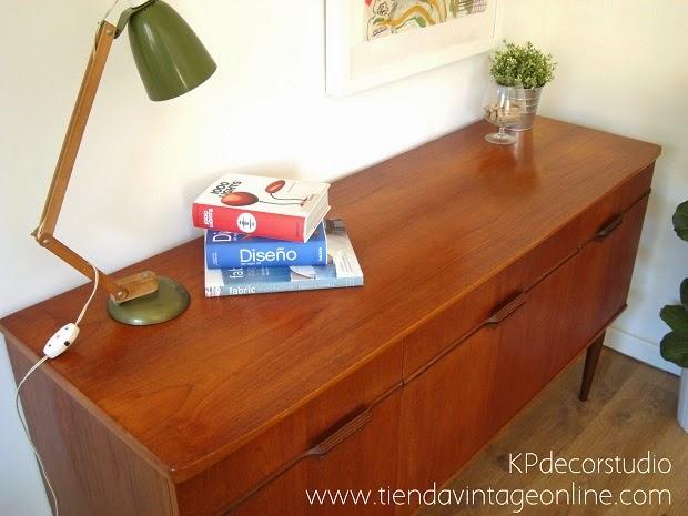 Comprar aparador danés estilo escandinavo madera de teca vintage