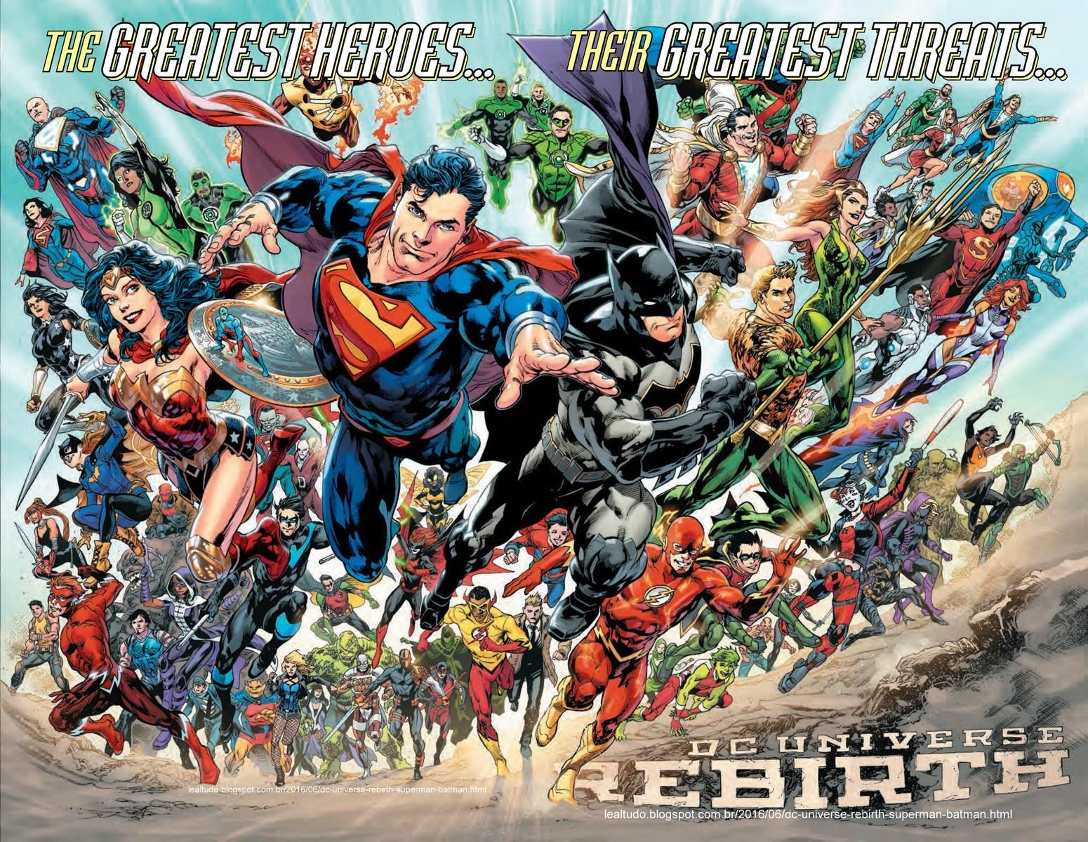 DC UNIVERSE REBIRTH - Superman Batman Wonder Woman Flash Shazam Green Arrow Lantern Titan Antman - LARGE