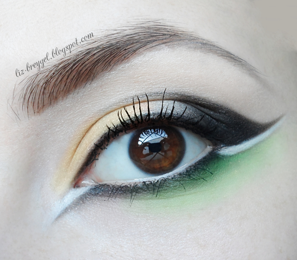 black and green makeup tutorial, step by step evening makeup