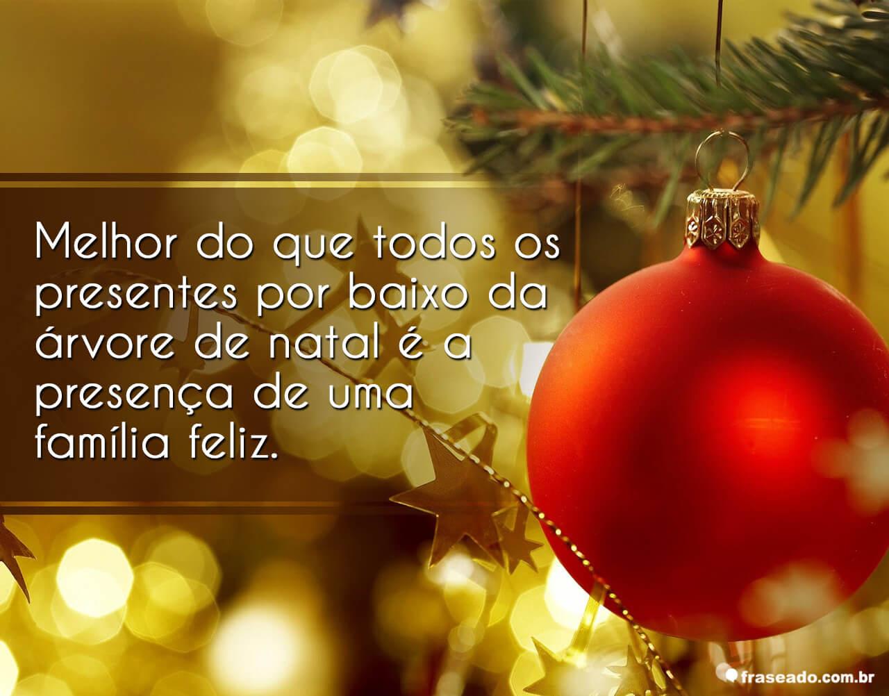 Natal é época de fraternidade, confraternização, amizade e amor!