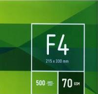 4 Fakta tentang Kertas Ukuran F4