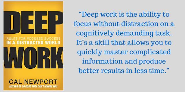"""Нотатки з книги """"Заглибитись у роботу: як досягти успіху через фокусування у світі безперервних відволікань"""""""