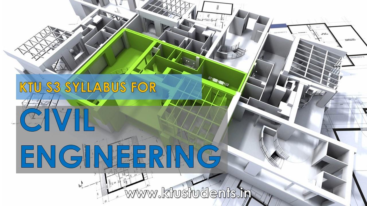 S3 B-tech Syllabus for Civil Engineering | KTU Students