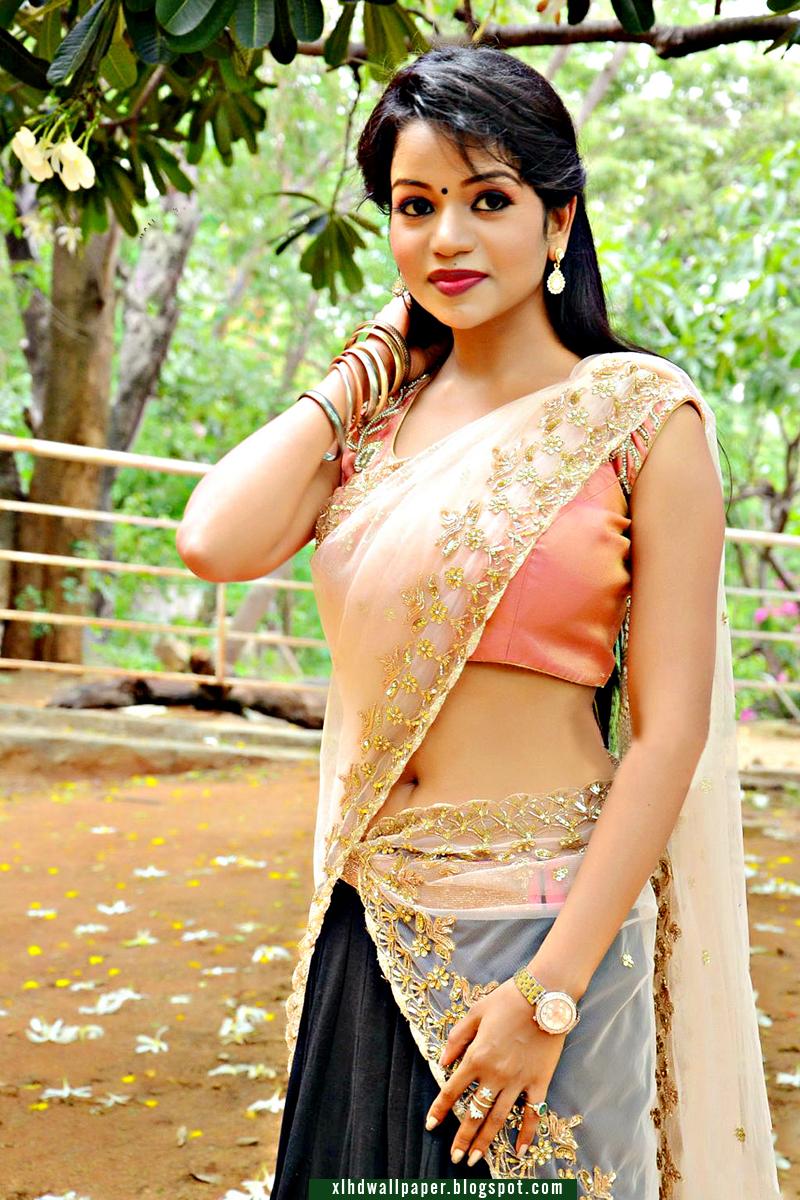 Cute Teenage Actress Bhavya In Half Saree Xl Hd Wallpaper Free