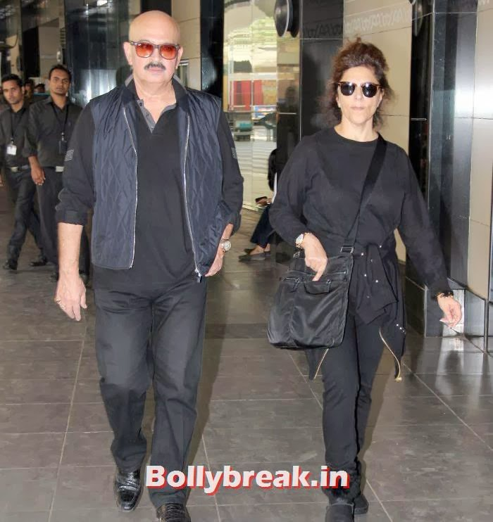 Rakesh Roshan, Pinky Roshan, New Year Celebrations: Various Celebs Snapped at Airport