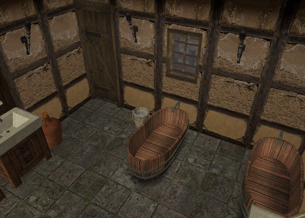 corner desk chair computer ball ts2: medieval knight's training barracks | history lover's sims blog