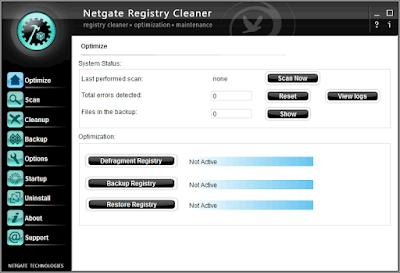Screenshot NETGATE Registry Cleaner 17.0.840.0 Full Version