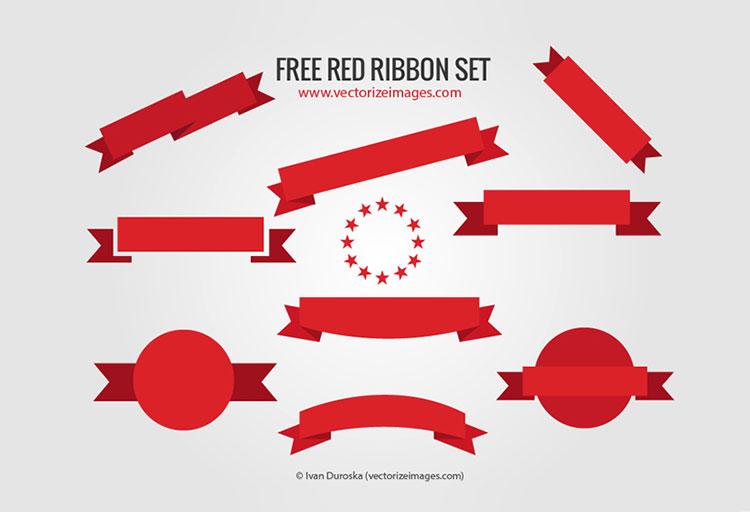 Free Red Ribbon Set