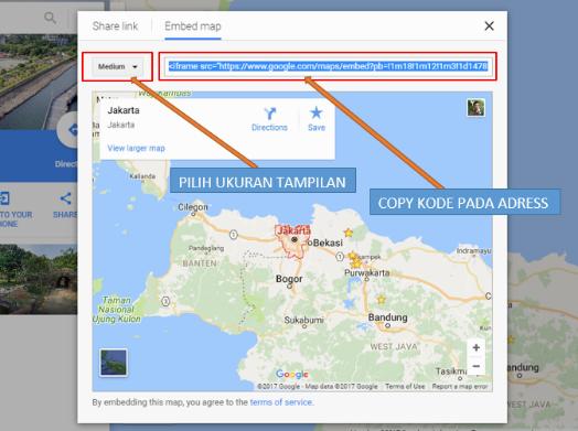Cara menyematkan peta google maps di postingan blog