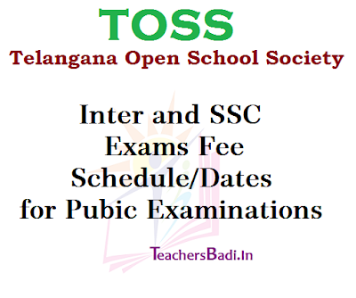 TOSS, Inter and SSC, Exams Fee