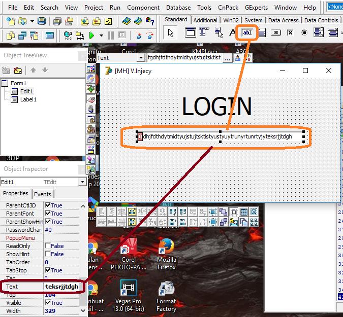 Cara Menampilkan atau Menyembunyikan Password  Pada Inject di Delphi 7