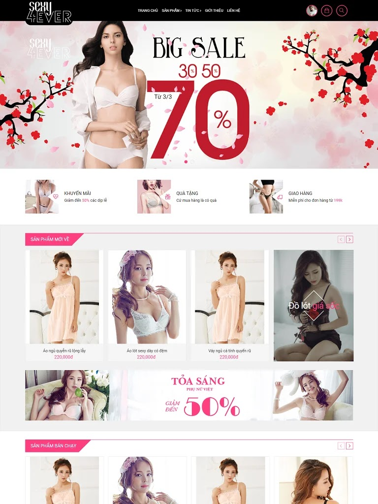 Template giao diện mẫu blogspot shop thời trang chuẩn đẹp - Ảnh 1