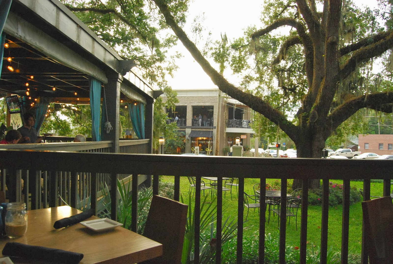 On the porch of the front porch restaurant tallahassee fla