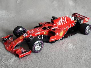 Ferrari SF71-H  Sebastian Vettel 2018 by F1paperboy