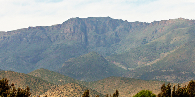 Montaña emblema de comuna de Salamanca, Chile