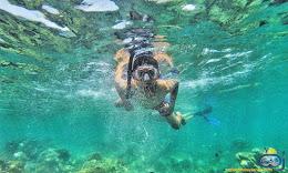 aktivitas snorkeling underwater pulau harapan