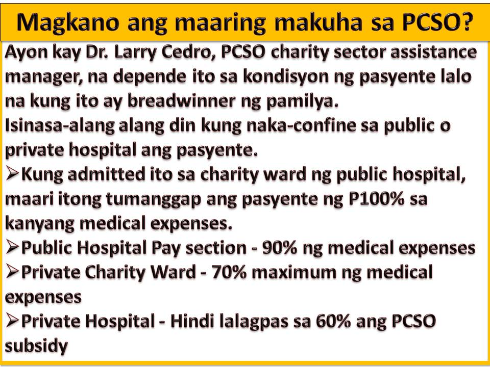 Heres how to get free medical assistance from philippine charity for chemotherapy request spiritdancerdesigns Images
