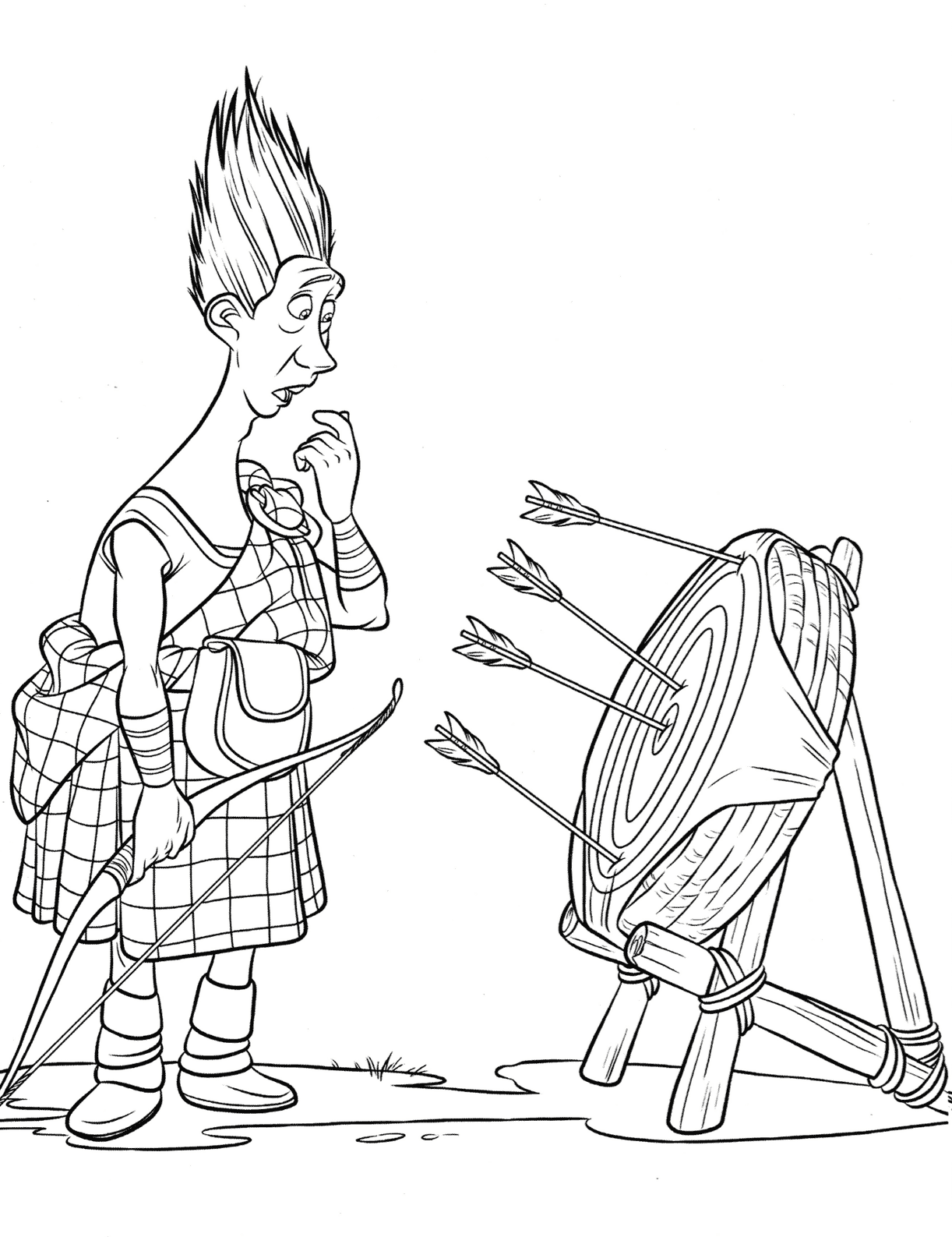 wee dingwall disney brave coloring pages