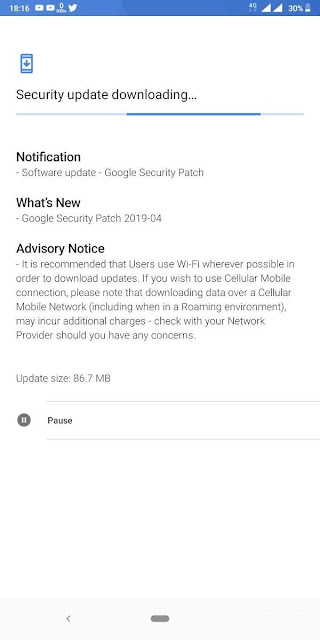 Nokia 3.1 Plus receiving April 2019 Android Security Update
