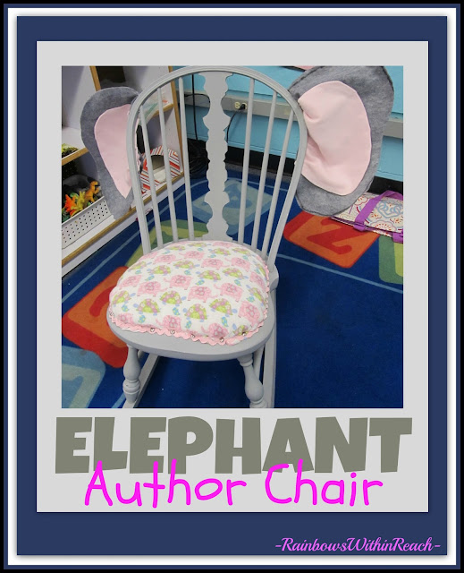 photo of: Children's Author Chair with Elephant Ears via RainbowsWithinReach