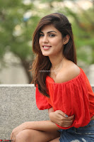 Rhea Chakraborty in Red Crop Top and Denim Shorts Spicy Pics ~  Exclusive 275.JPG