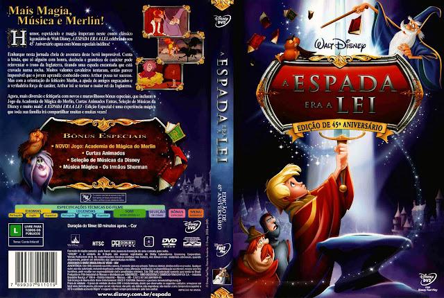 Capa DVD A ESPADA ERA A LEI