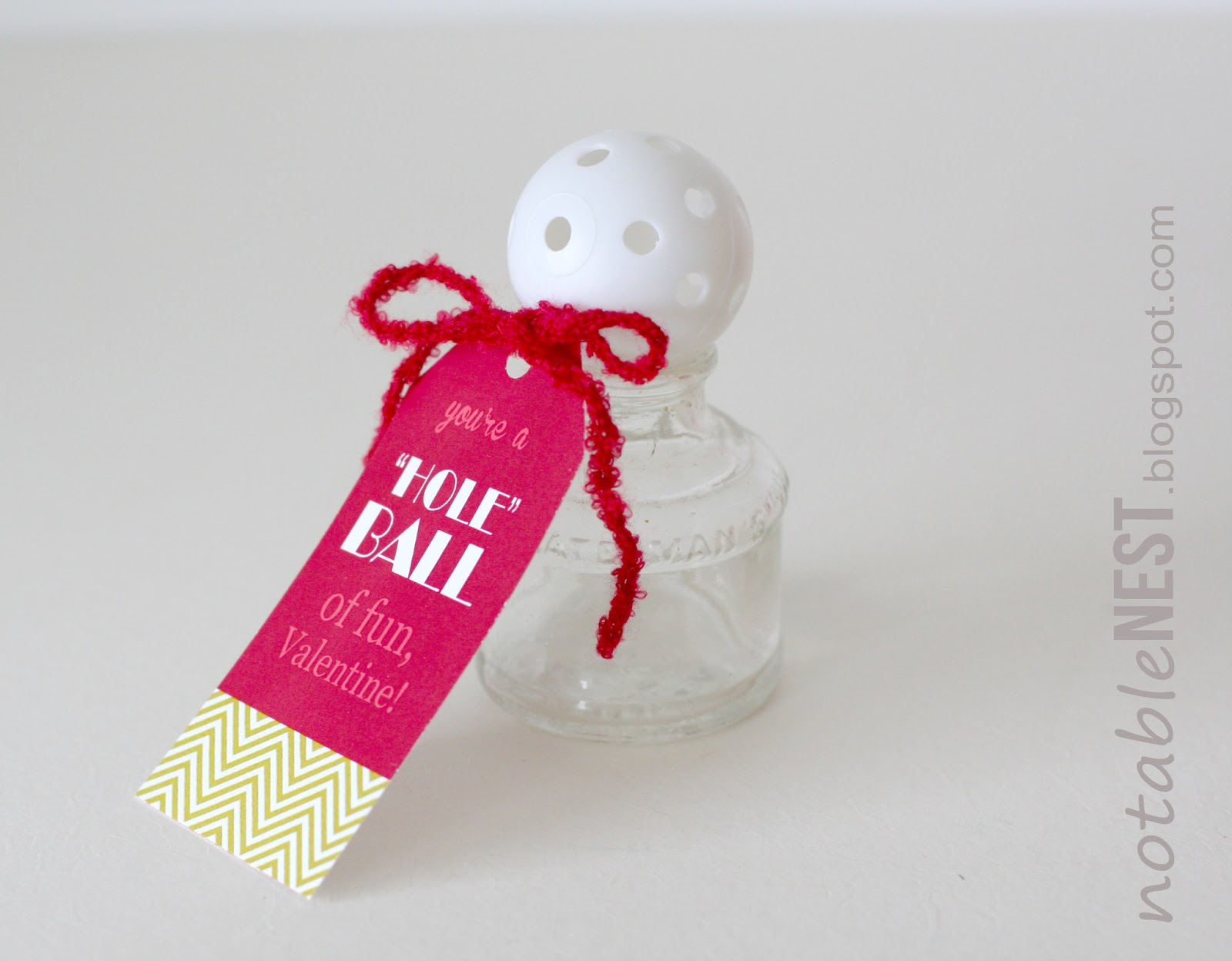 DIY Easy Valentine Cards Golf Ball Valentines