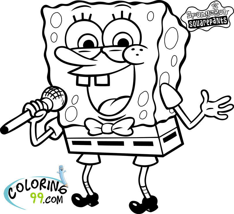 spongebob coloring pages print outs - photo#47