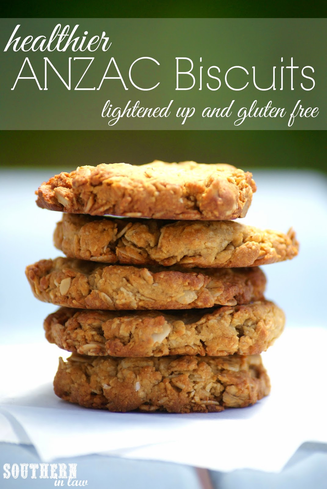 Healthier ANZAC Cookie Recipe - Gluten free, low fat, low sugar, eggless, freezer friendly, healthy recipe