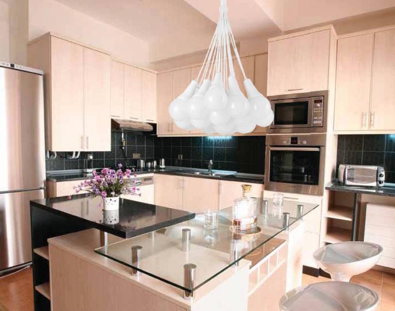 Lámparas colgantes para la cocina, a gusto de todos - Cocinas con estilo