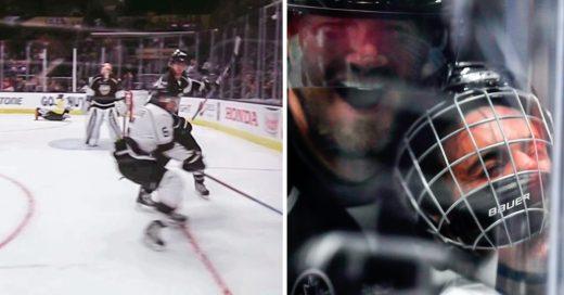 Justin Bieber aplastado en juego de Hockey, da mucha risa