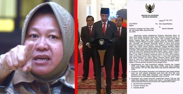 Akibat Kebijakan Jokowi... Surabaya Tak Mengalokasikan Dana Buat THR, Risma Bingung