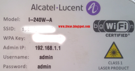 Cara Setting Wifi Modem Alcatel Lucent I-240W-A Fiber Optic - IT Wae
