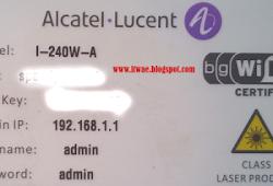 Cara Setting Wifi Modem Alcatel Lucent I-240W-A Fiber Optic