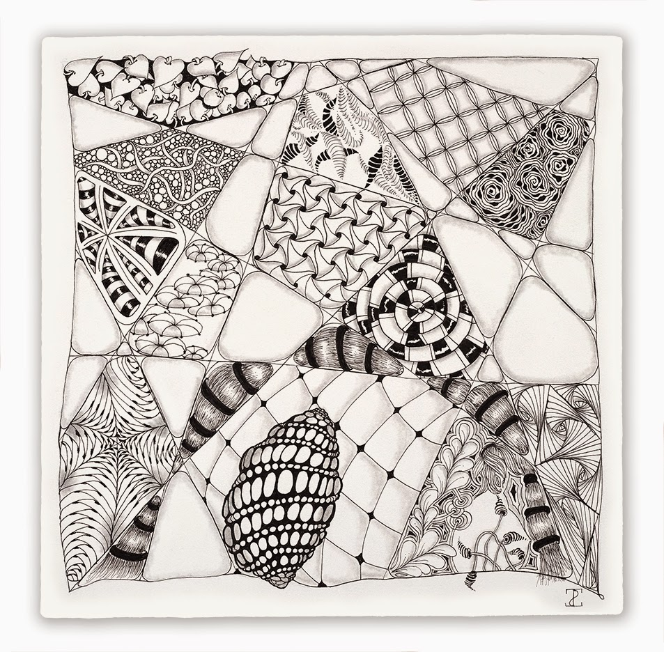 Zentangle opus contributions for Zentangle tile template