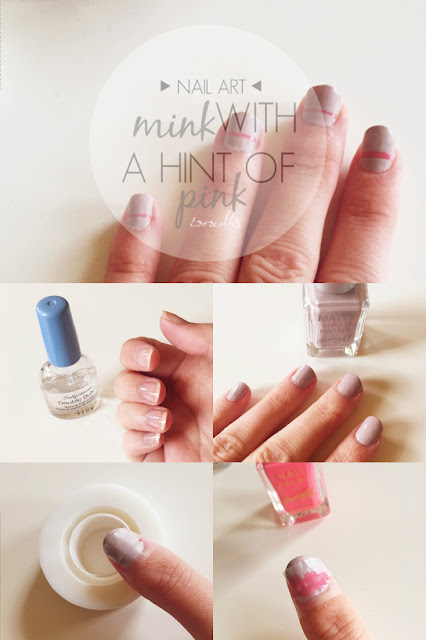 ISOSCELLA | Nail Art Mink with Pink