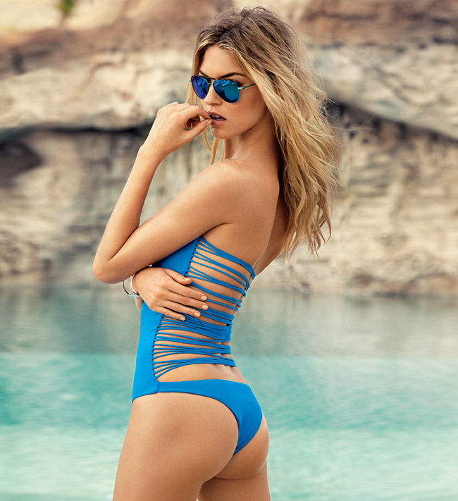 Martha Hunt flaunts swimsuits for Ocean Drive Magazine July 2015
