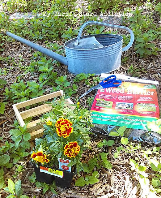 15 minute repurposed mini crate planters
