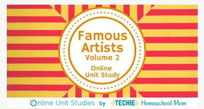 Famous Artists Online Unit Study (Vol. 2) cover