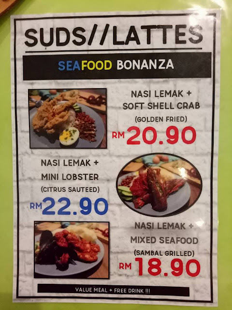 Menu Baru Seafood Bonanza di Suds & Lattes Mutiara Damansara