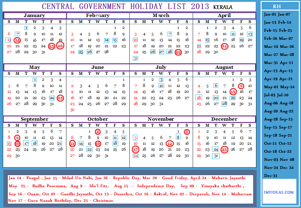 Indian Calendar Software Nasscom The Trade Association Of Indian It Bpm Industry Central Government Employees Holiday Calendar 2013