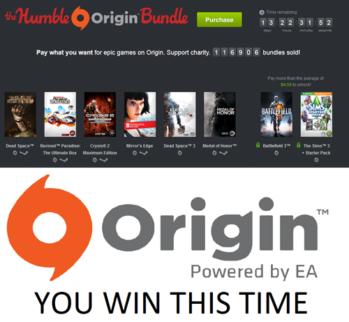ea origin humble bundle sales drm free