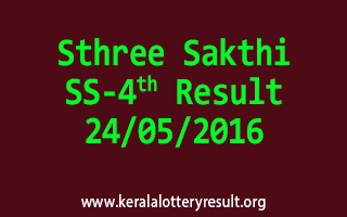Sthree Sakthi SS 4 Lottery Result 24-5-2016