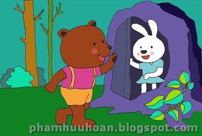 Có một chú gấu con rất tham ăn. Một hôm, gấu con đói bụng và thèm mật ong  quá. Gấu con bèn quyết định đến thăm thỏ con vì gấu biết trong ...