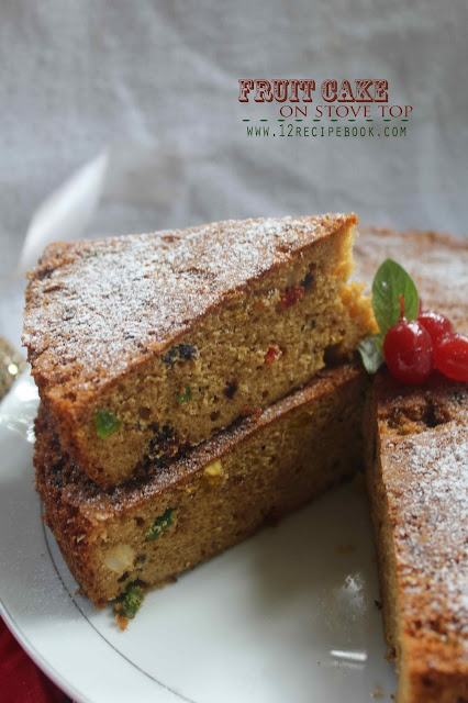 Fruit Cake on Pressure Cooker / plum cake