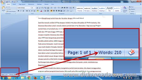 Cara Menghitung Jumlah Kata dan Karakter dengan Microsoft Word ...